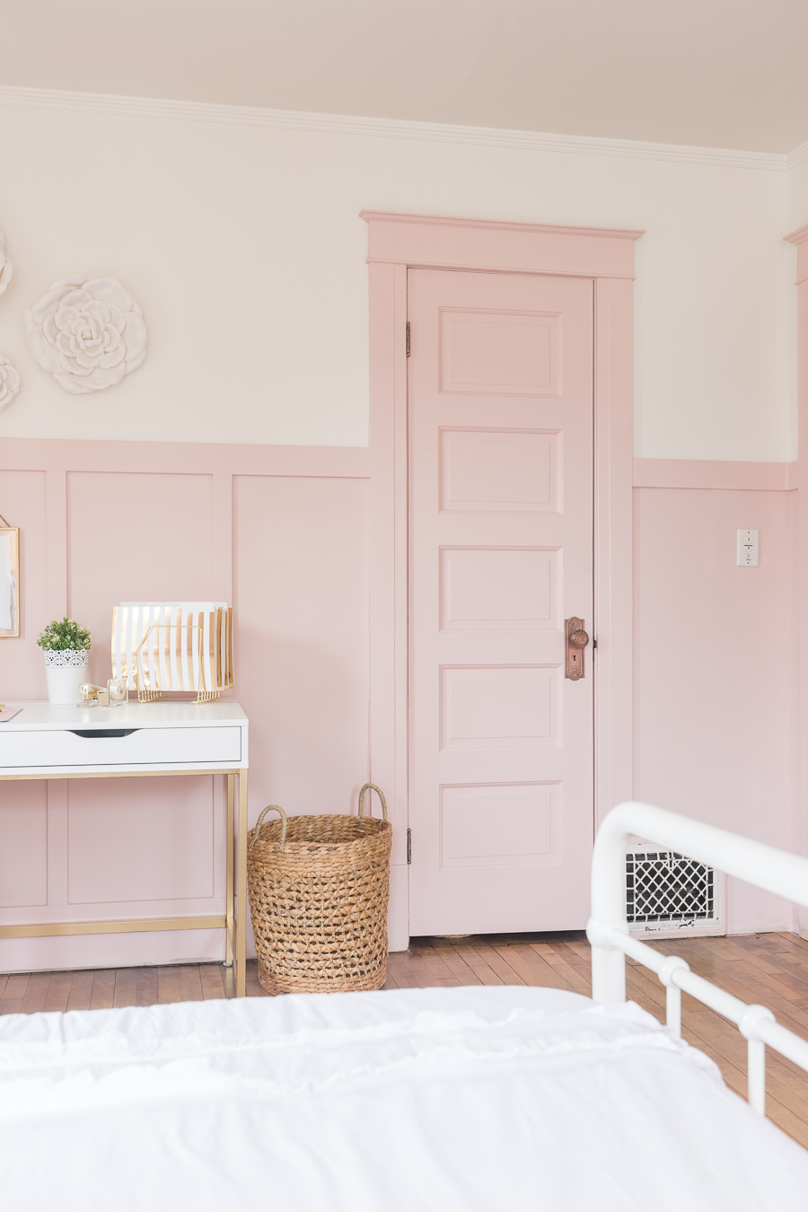 Pink Door with Pink Board and Batten and Trim