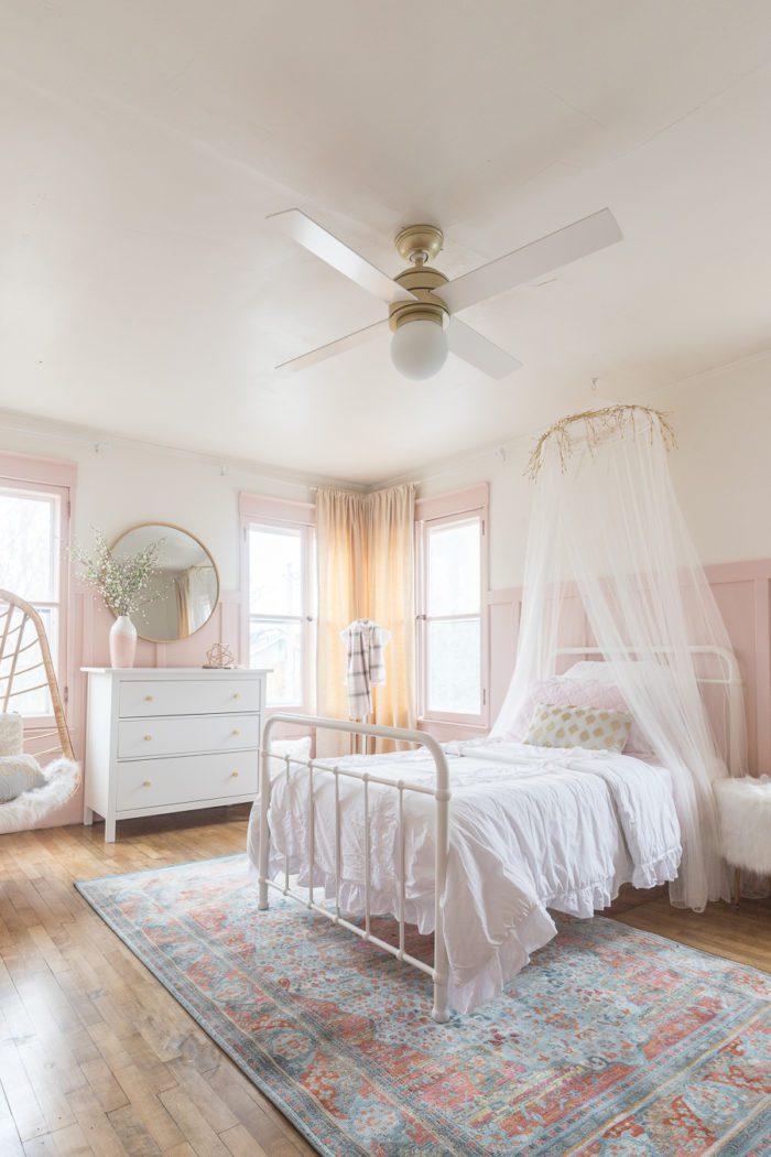 Tween bedroom in historical home