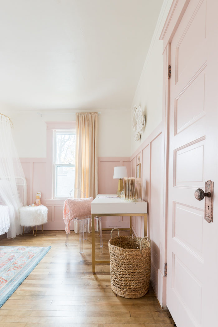 Pink & Gold Girls Bedroom Decor Ideas | Cherished Bliss