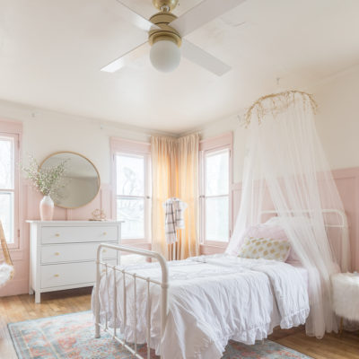 Pink and Gold Girls Bedroom | ORC Reveal