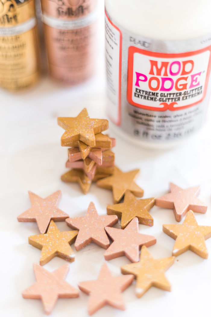 Decorate your Christmas Tree with these easy to make Rose Gold Christmas Ornaments. Change the color to go with any theme you can dream up.