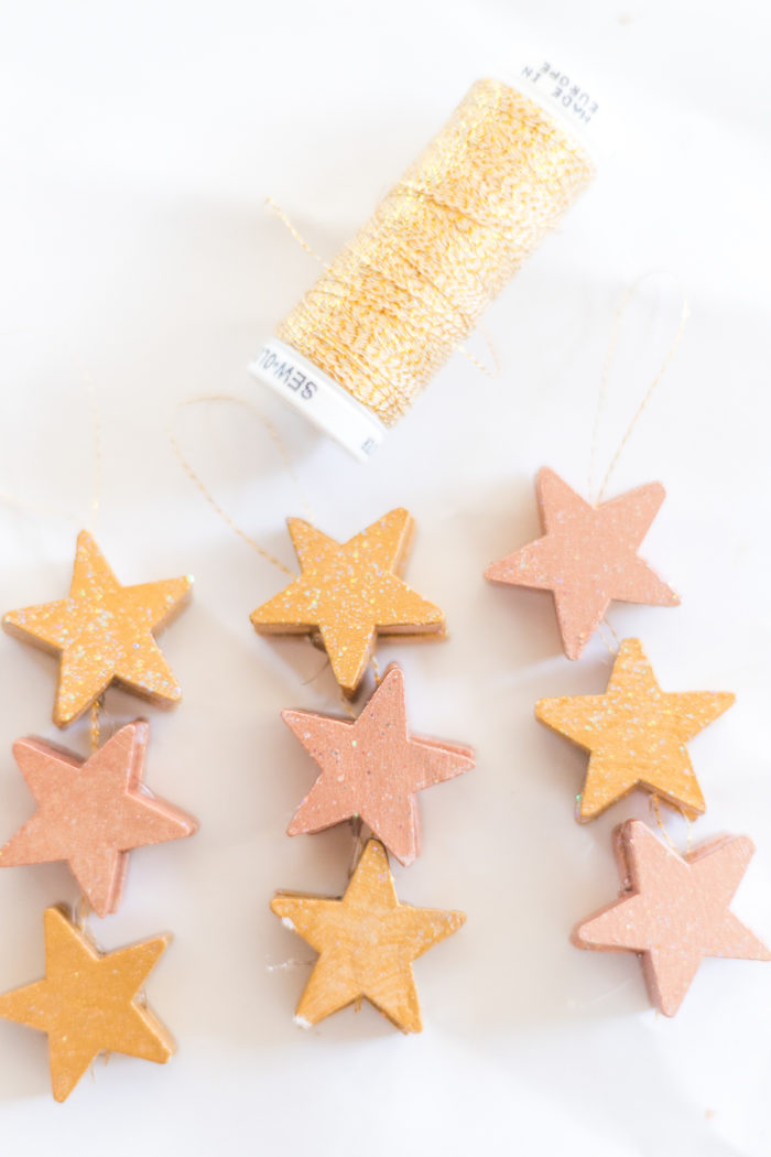 Star Rose Gold Christmas Ornaments Tutorial Cherished Bliss