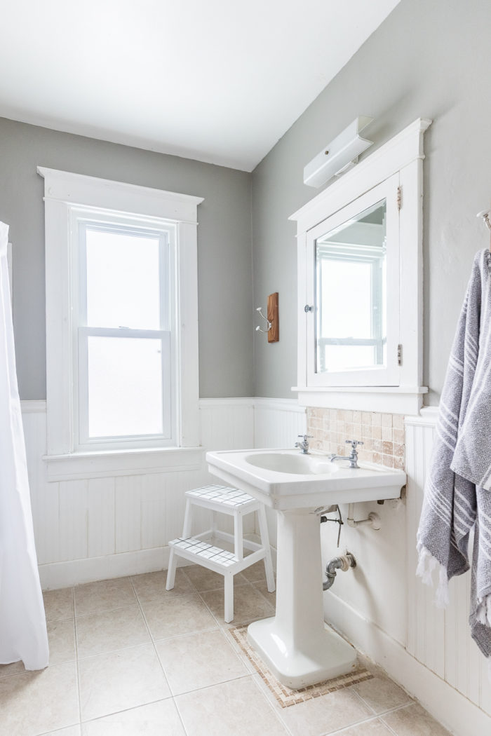Read these tips on how to create a kid friendly bathroom where Ashley shares how to refresh your bathroom without breaking the bank!