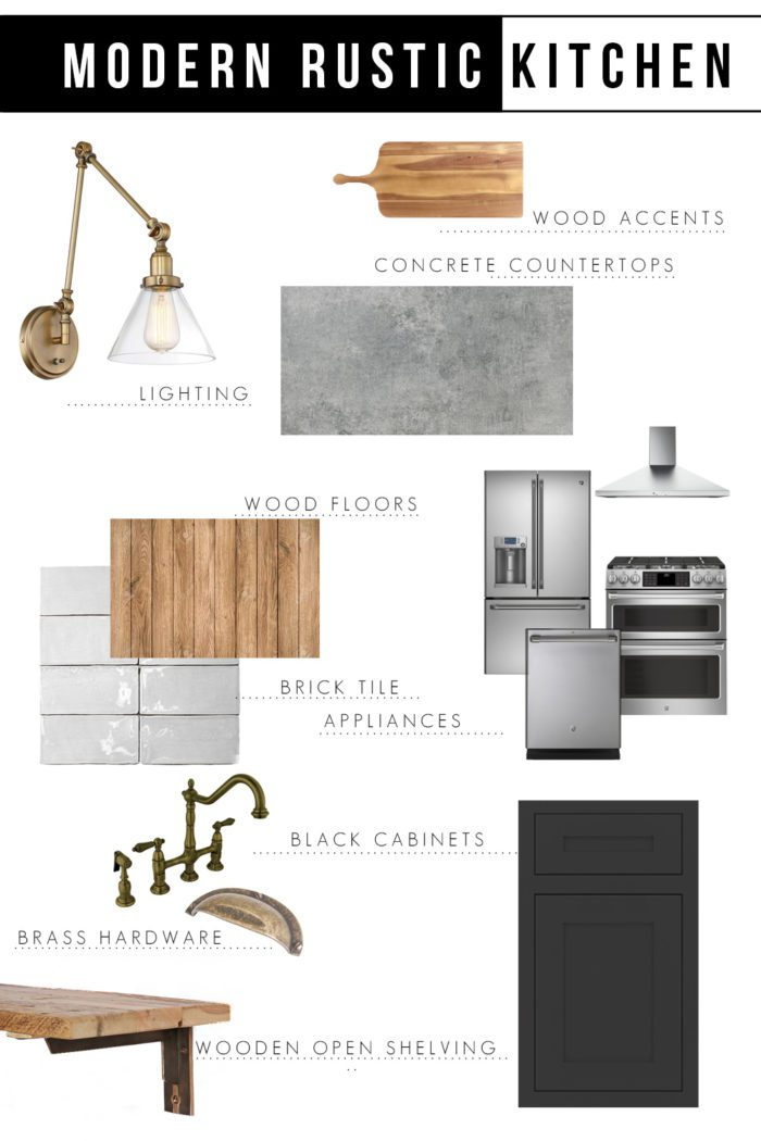 Come take a look at this Modern Rustic Kitchen Design Inspiration and a few tips on starting the design process of a kitchen renovation.