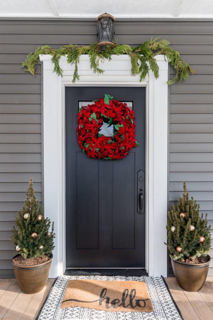 Simple Winter Front Door Cherished Bliss