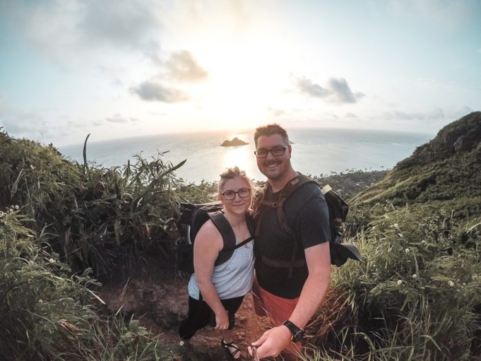 Take the Lanikai Pillbox Hike oh Oahu to see the gorgeous sunrises!
