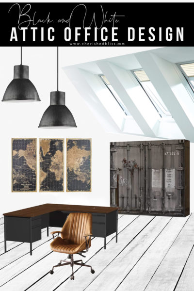 Industrial Attic Office Design