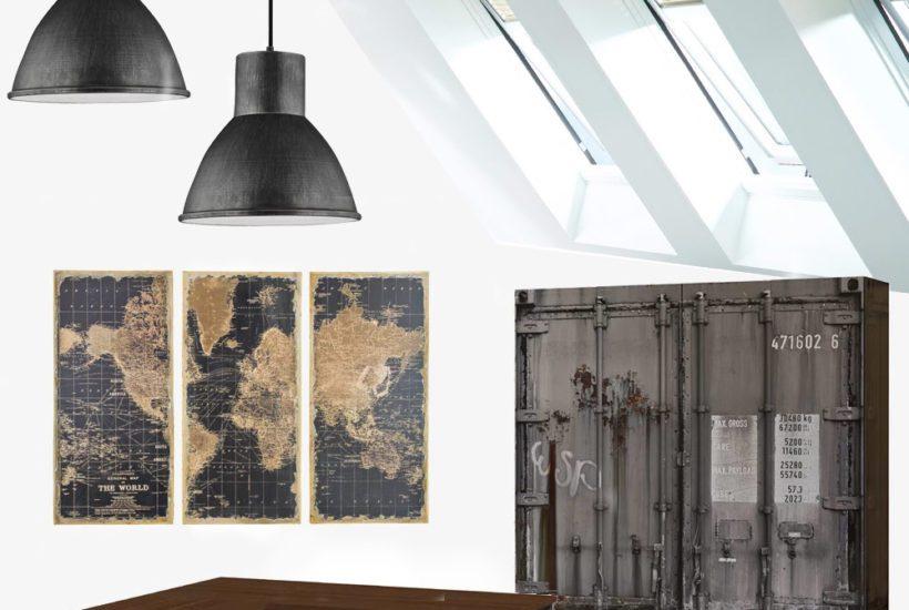 Industrial Attic Office Design