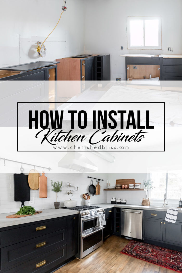 how do you install kitchen cabinets how to install kitchen cabinets yourself cherished bliss 8441