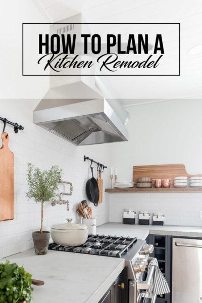 This guide will walk you through the steps of how to plan a kitchen remodel, and with the free printable you can organize your thoughts and get started!