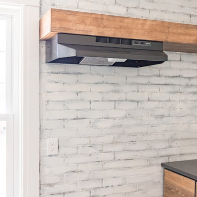 Install Vent Hood in Open Shelving