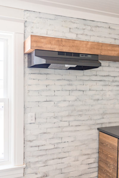 Install Vent Hood in Open Shelving: Add a simple vent hood to a kitchenette without the need for a cabinet.