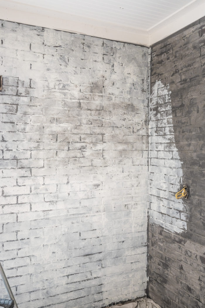 How To Paint An Industrial Faux Brick Wall Cherished Bliss