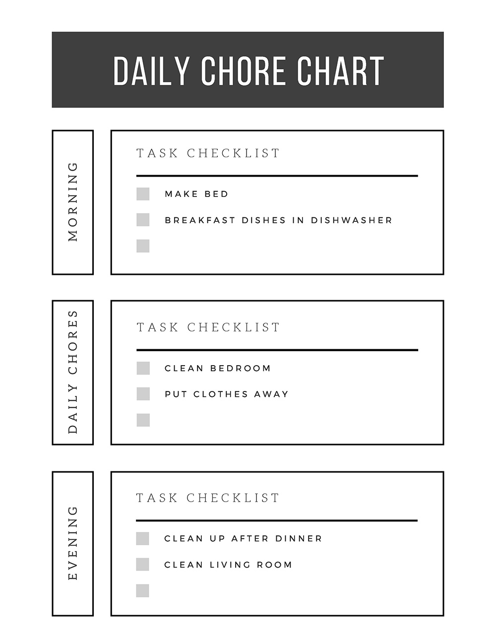 It is an image of Free Chore Chart Printable throughout classroom
