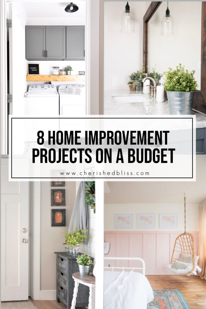 8 Home Improvement Projects on a Budget that you can actually do!