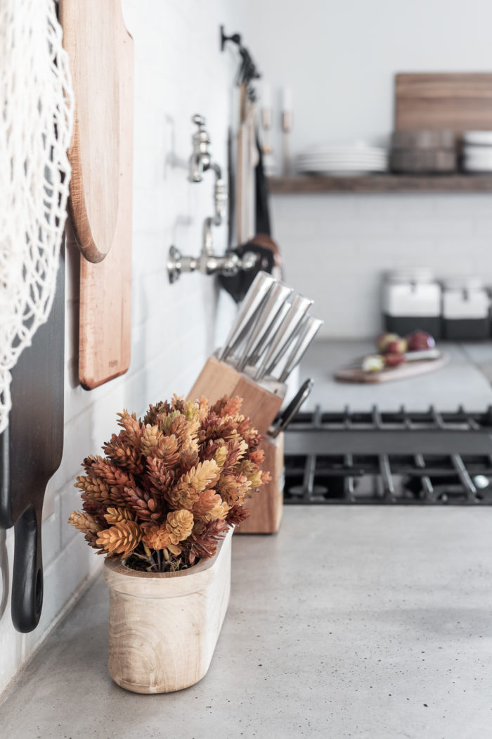 Fall Colors can be added to the kitchen for simple touches.