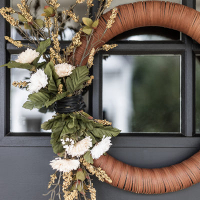 Modern Leather Fall Wreath | DIY Tutorial