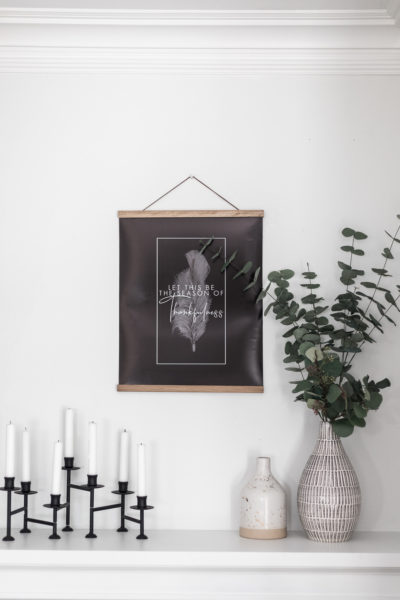 Looking for easy and affordable Autumn Decor? Get this Minimalist Black and White Fall Printable Quote, Wall Art, and MORE!