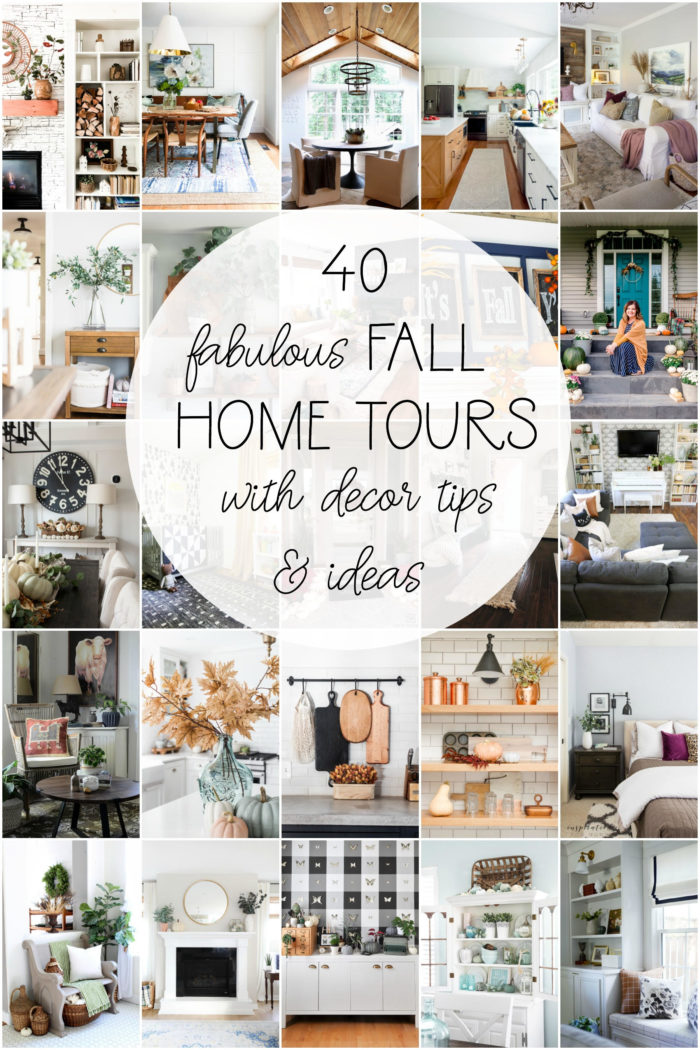 Bring a few simple touches of Autumn in to your home this year with these easy Kitchen Fall Decor ideas, perfect for anyone on a budget! | 40 Fall Home Tours