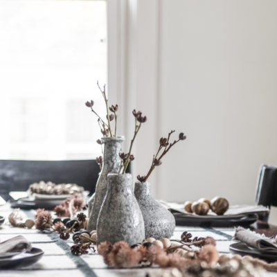 Modern Natural Fall Tablescape Decor
