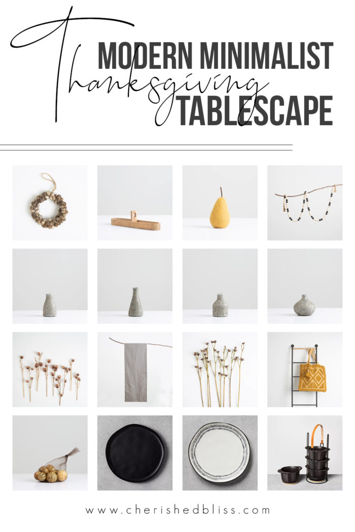 Modern Natural  Fall - Thanksgiving Tablescape