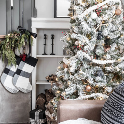 Cozy Rustic Christmas Tree