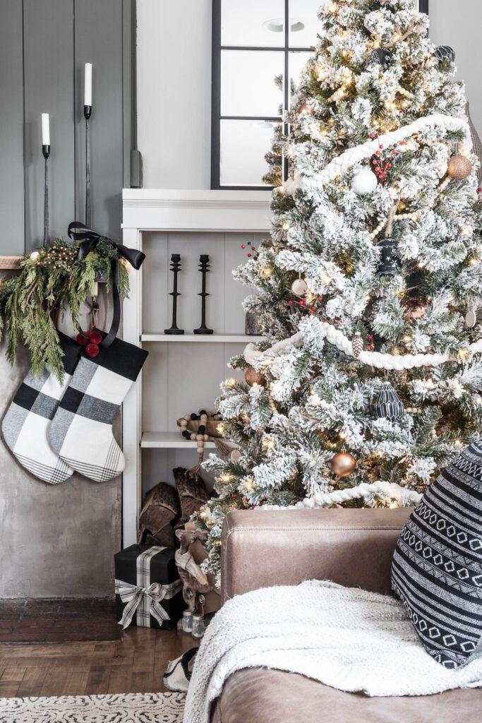 Cozy Modern Rustic Christmas Tree Cherished Bliss