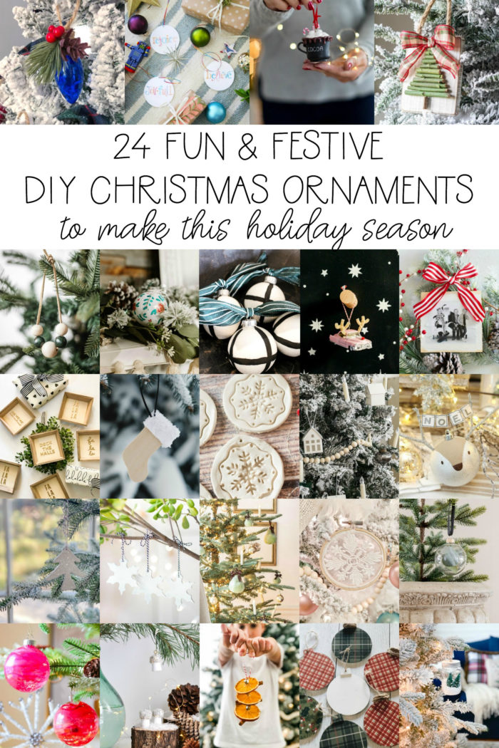 Over 20 DIY Christmas Ornaments to make this Holiday Season.