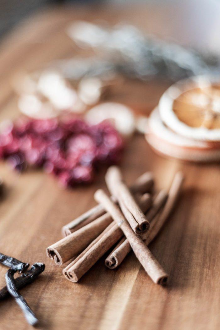 Cinnamon scented stovetop potpourri.