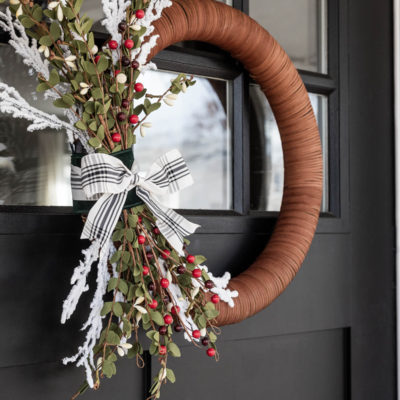 How to Make a Modern Christmas Wreath