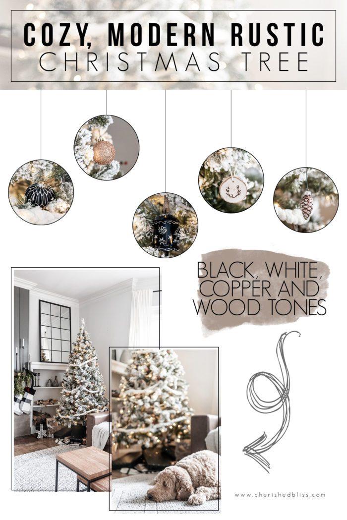 Modern Rustic Christmas Tree Decor Ideas