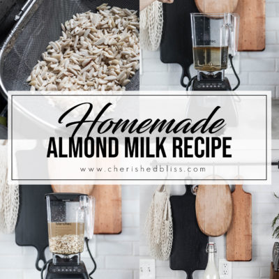 Homemade Almond Milk with Honey & Vanilla