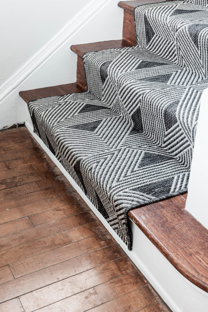 Add stair runner to your stairs to create a finished look.