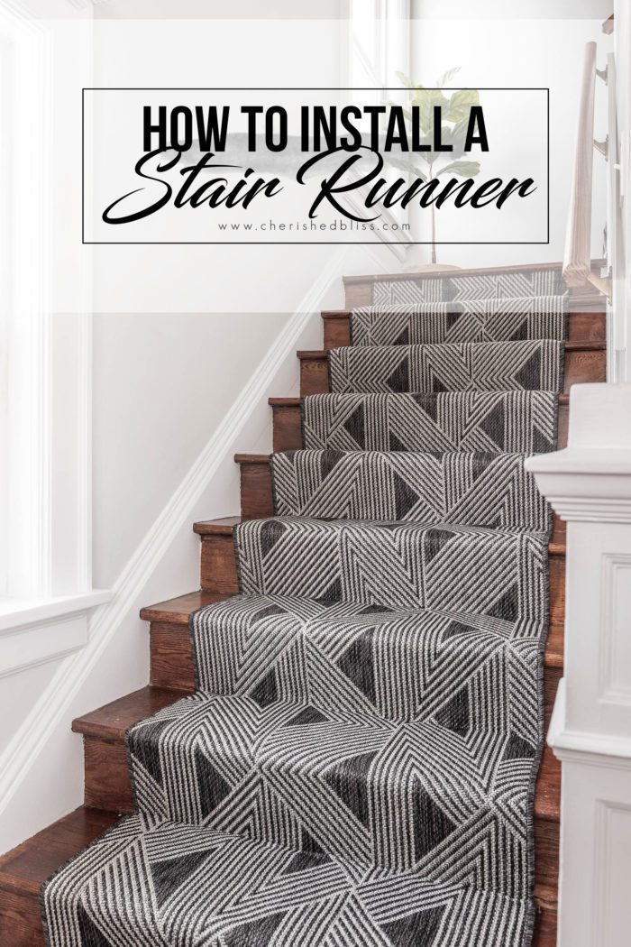 How to install a stair runner.