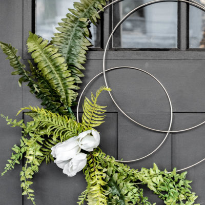 Easy DIY Spring Hoop Wreath Tutorial