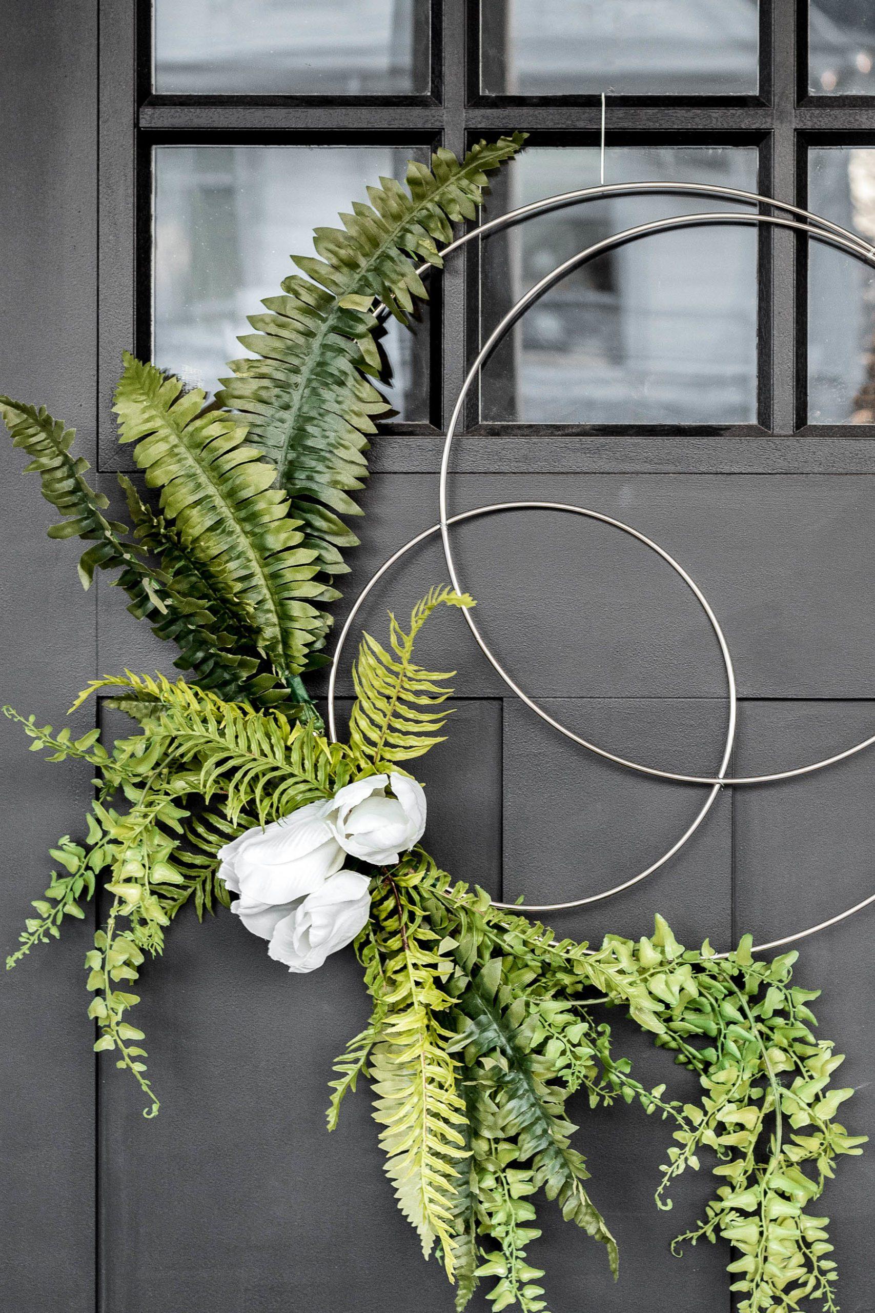 Easy Diy Spring Hoop Wreath Tutorial Cherished Bliss