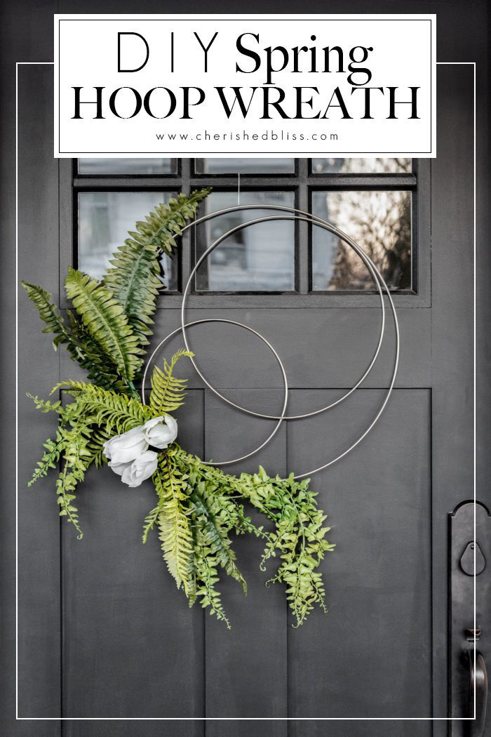 DIY Spring Wreath - Metal Hoops