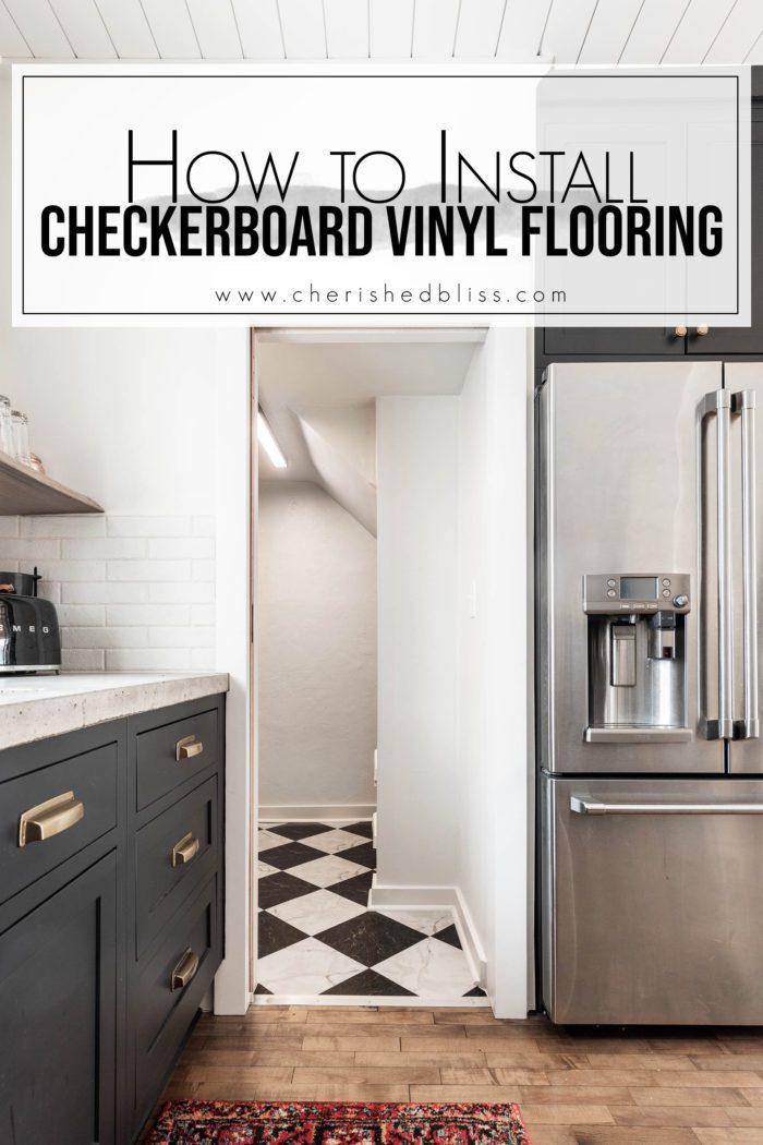 How to Install Checkerboard Vinyl Flooring.