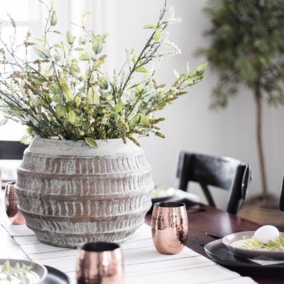 Modern Classic Easter Tablescape