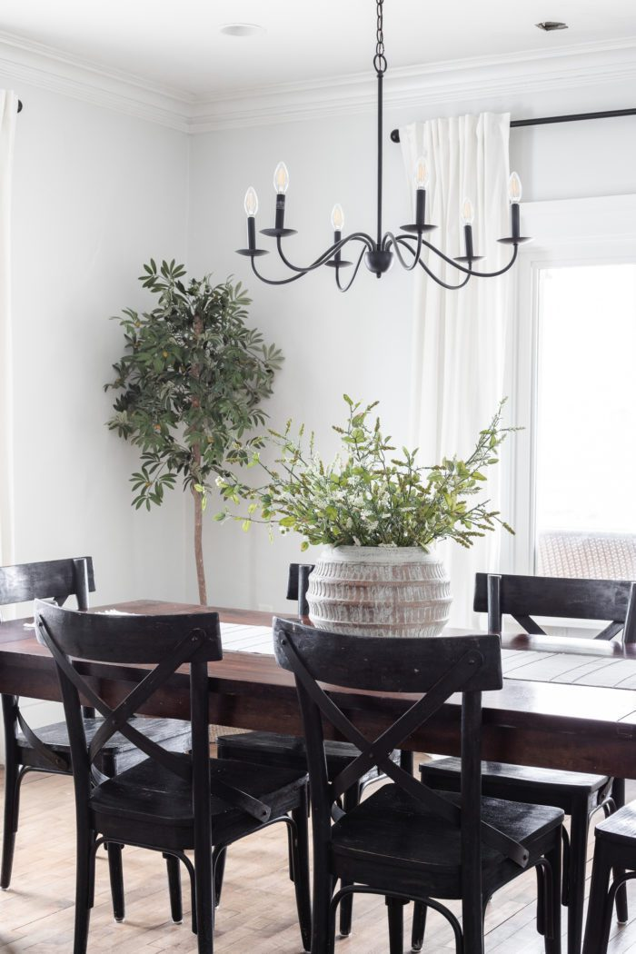 Modern Rustic Dining Room Spring Decor