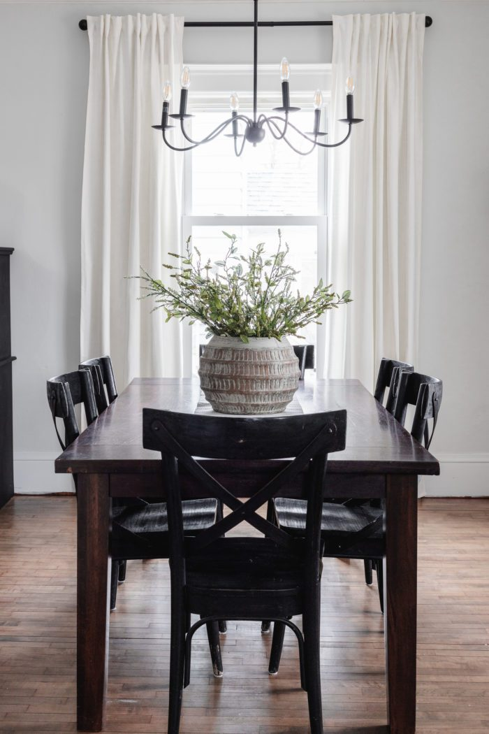 Modern Rustic Spring Home Tour. Dining Room Decor.