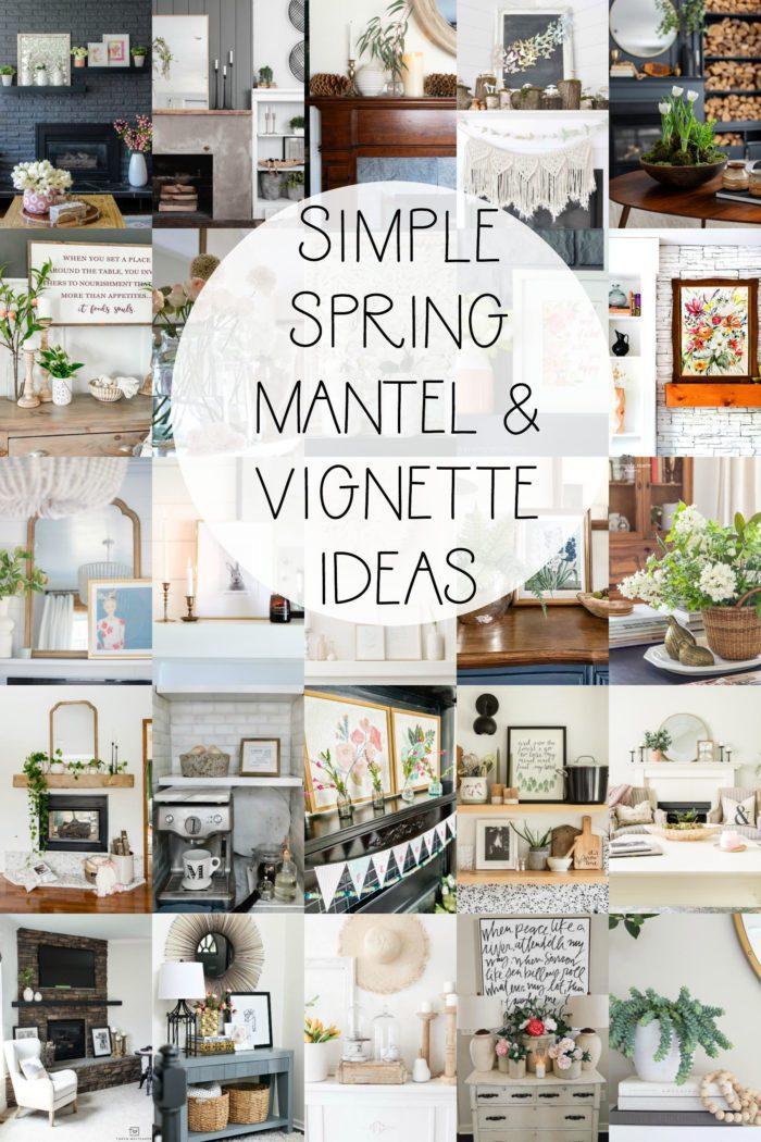 25+ Spring Mantel Decor Ideas