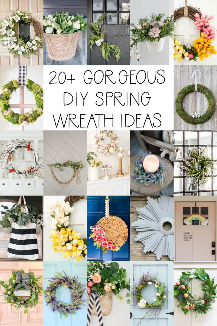 20+ ideas for DIY Spring Wreaths