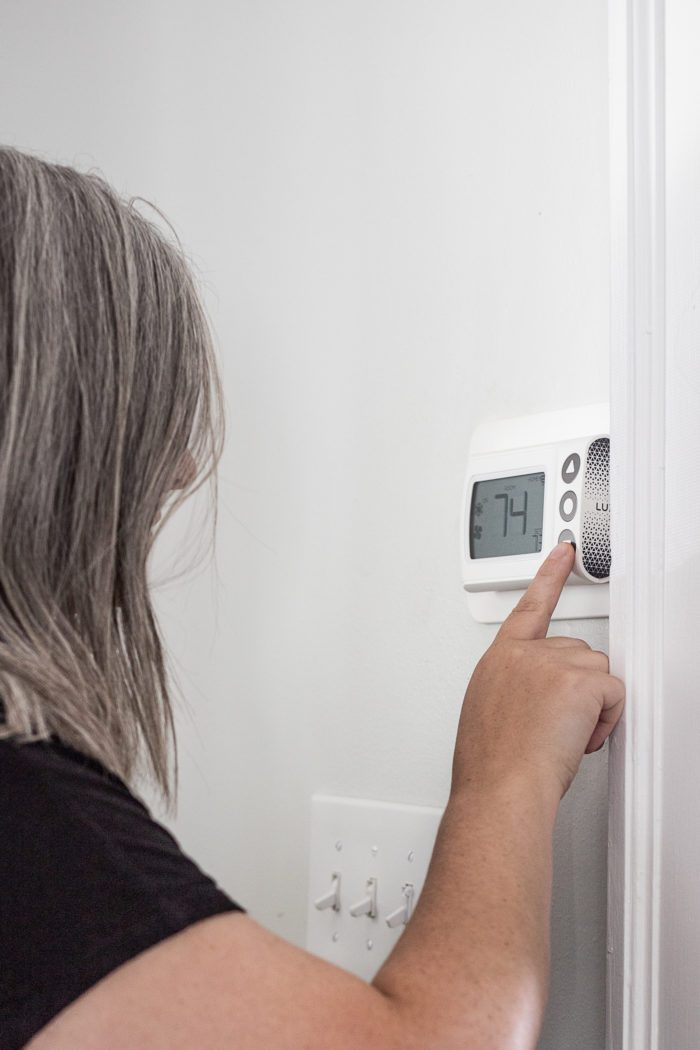 Lux CS1 Smart Thermostat installed in home.