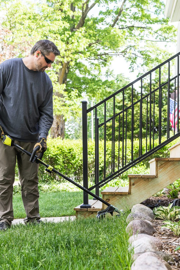 Use Battery Operated Trimmer to instantly add curb appeal.