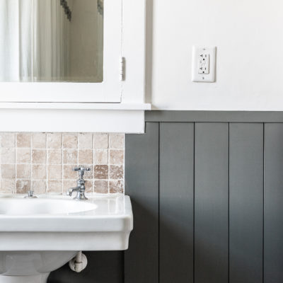 Boys Bathroom Makeover in a Historic Home