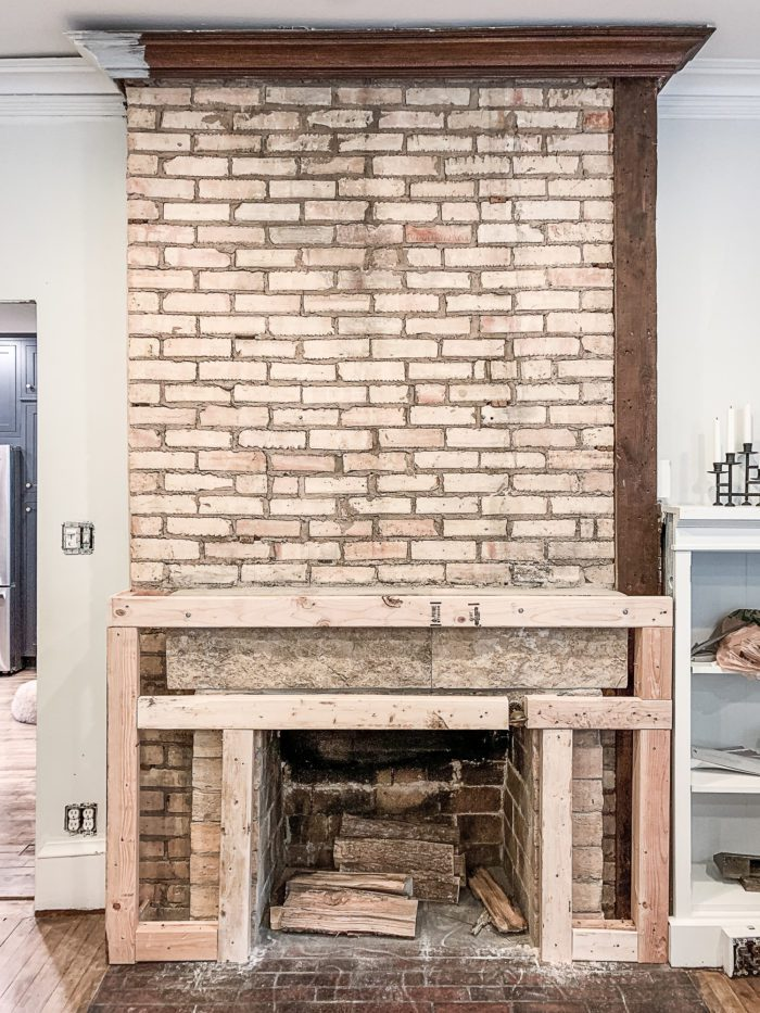 Old brick Fireplace BEFORE
