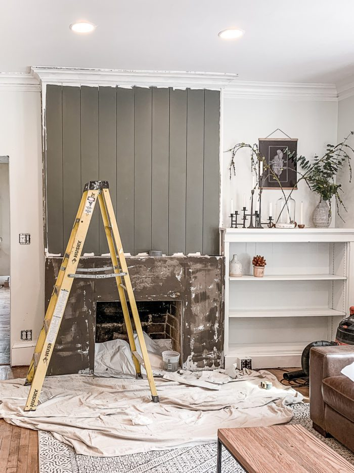 Use Ardex Feather Finish for a DIY Concrete Fireplace Makeover