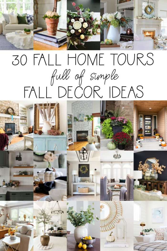 30 Fall home tours full of fall decor ideas.