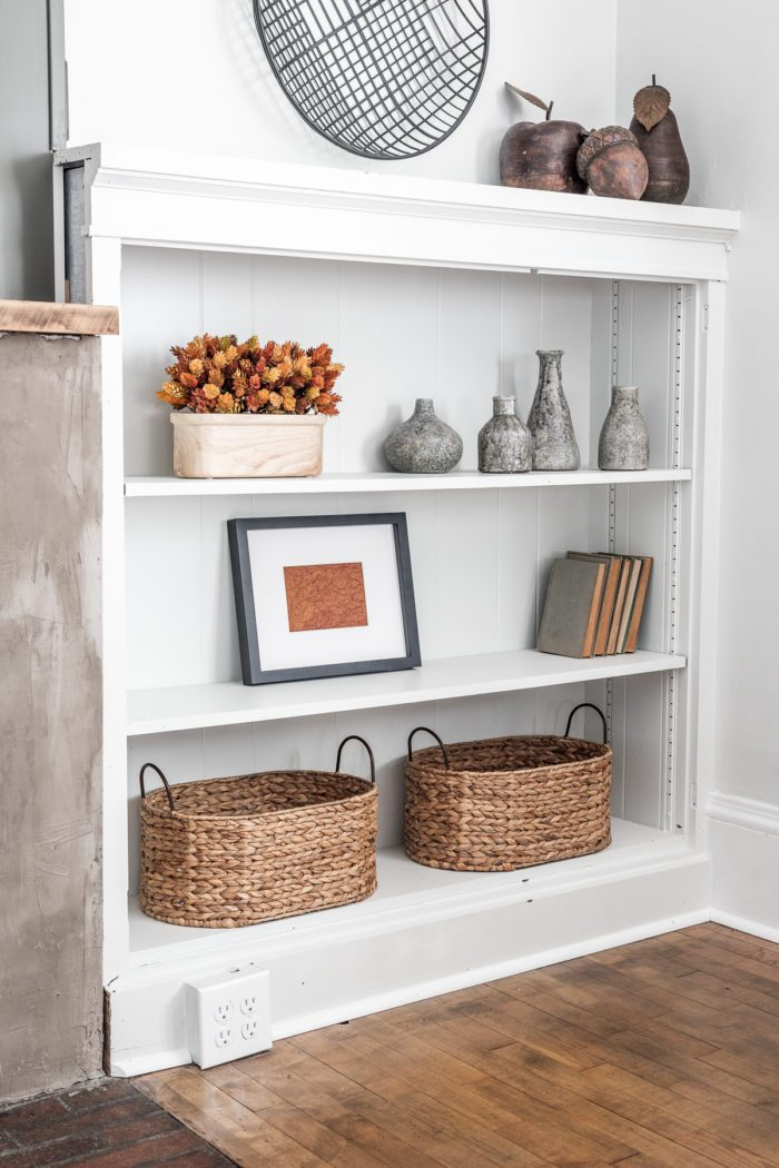 How to Style Fall Decor on Shelves